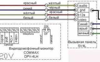 Подключение Вызывной панели Activision AVC-305 (PAL) к видеодомофону Tantos Amelie SD