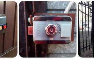 Электромеханический замок на калитку: принципы его выбора, установка и схема подключения +Фото и Видео