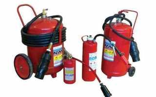 Устройство и правила применения химически-пенных огнетушителей