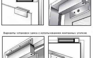 Как установить электромагнитный замок на дверь