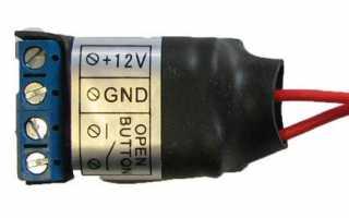 Схема подключения видеодомофона, вызывной панели и электромеханического замка.