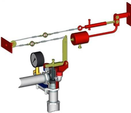 Тросовой привод дренчерной системы